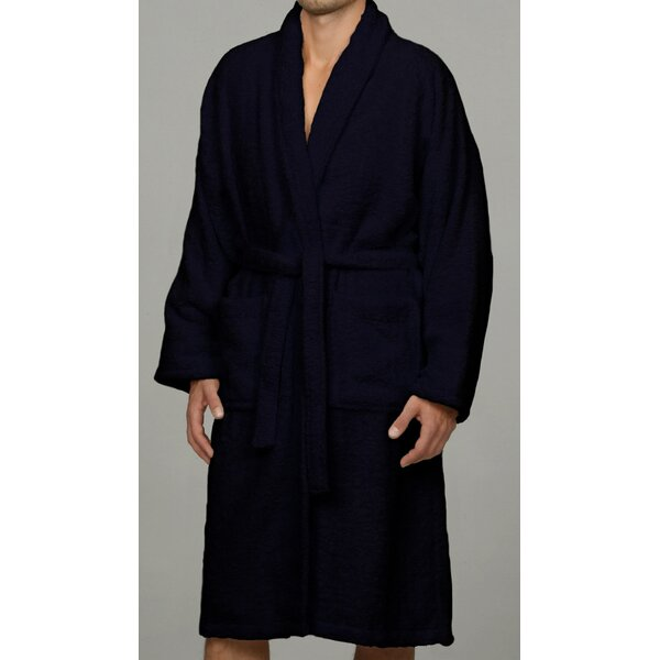 Salerno Luxury 100% Egyptian-Quality Cotton Bathrobe by Luxor Linens